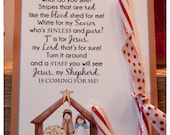Legend of the Candy Cane Nativity - Card for Witnessing at Christmas - Jesus is the Reason for the Season - Printable  - Christian - Jesus