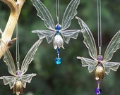 NEW! Fairy Suncatcher Small - Birthstones & 24 More Swarovski Colors - Silver or gold toned Fairy