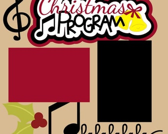 Christmas Program/Church/School/Community 2-Page 12X12 Scrapbook Page Kit or Premade Layout