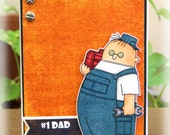 Number One Dad Handyman Birthday Father's Day Handmade Greeting