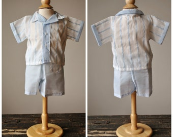 1960s Summer Short & Shirt Set~Size 12 Monhts