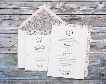 Modern wedding invitations, monogram wedding invitations, classic wedding invitations, timeless wedding invitations, elegant wedding invites