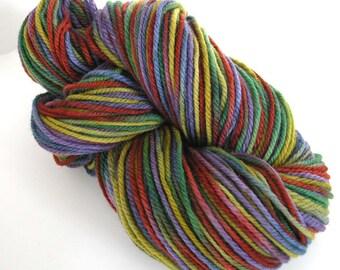 Hand Dyed Yarn Worsted Wool Yarn - Serendipity