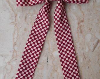 vintage Skinny Tie - Gentleman's Clip on Bow Tie - Colonel Sanders Tie