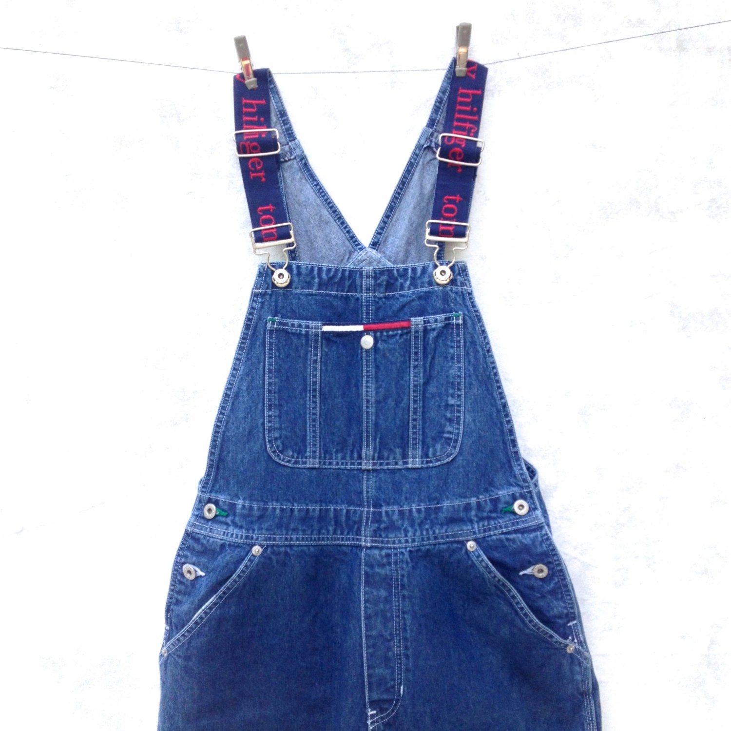 overalls tommy hilfiger 90 39 s overalls denim overall. Black Bedroom Furniture Sets. Home Design Ideas