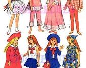 "Vintage 9"" Doll Clothes Pattern Fits Skipper, Pepper Dolls 7480"