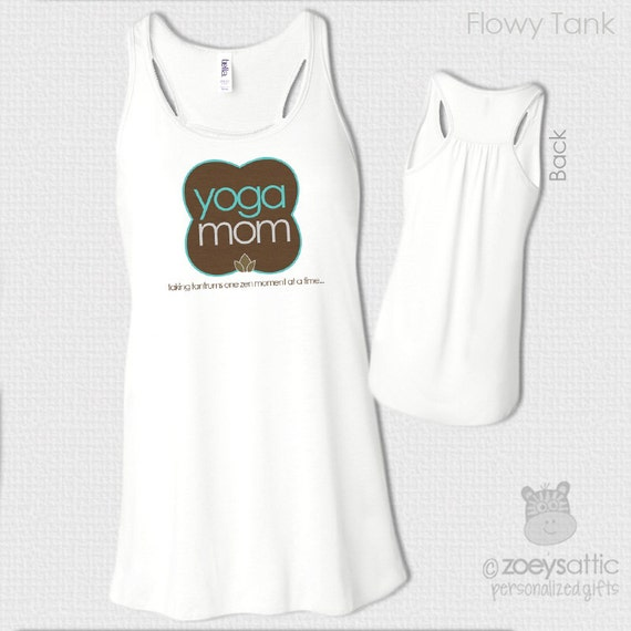 Yoga shirt - yoga lover mom custom flowy tank top or v neck or crew - great gift for birthday or Mother's Day