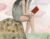 Girl Reading #1
