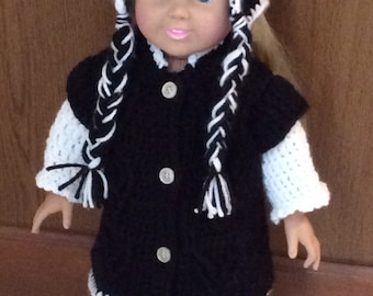 4 Piece Cat Lovers Sweater Set for 18 Inch Dolls