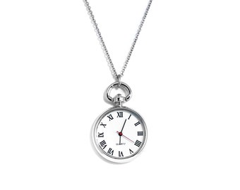 Pocket Watch Necklace, Engraved Pocket Watch, Engraved Necklace, Personalized Pocket Watch, Gift for Her, Mother's Day Gift