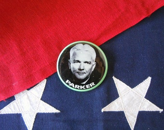 """1960's Indiana Crawford Parker Political Campaign Button 2.25"""" Republican Governor Badge Election Pin Back Button"""