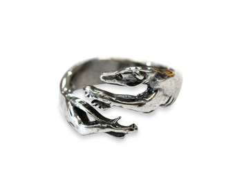Greyhound Ring Silver Greyhound Ring Greyhound Dog Jewelry 439