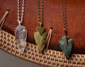 Arrowhead necklace / flint stone tribal necklace made to order customizable