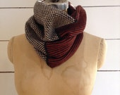 The Union Menswear Cowl in Charcoal/Natural/Ember