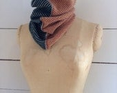 The Union Menswear Cowl in Henna/Camel/Grey/Holly