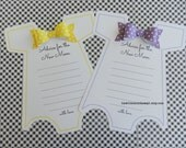 KIT Baby Shower Onesie Game-Purple OR Yellow -Advice For the New Mom  Party Game