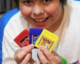 Pokemon Parody, Soapemon Gameboy Cartridge Soap Set, Retro Video Game Geek Gift