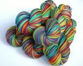 Hand dyed rainbow yarn. RAINBOWS. Custom, dyed to order, hand dyed yarn, your choice of rainbow.