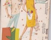 1961 Shift Dress & Top Sewing Pattern - Applique Transfers - McCalls - 16 - Uncut