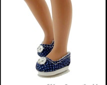 """Blue Shoes fit 8"""" Effanbee Patsyette, 8"""" Betsy McCall Dolls, Periwinkle"""