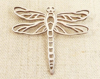 Vintage Cutout Sterling Dragonfly Brooch