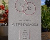 Letterpress Engagement Announcement