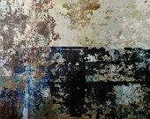 Blue Abstract Photography,Industrial Art,Urban Decay,Navy Blue Modern Art Print,Large Modern Wall Decor,Textured Art,Blue Black Abstract Art