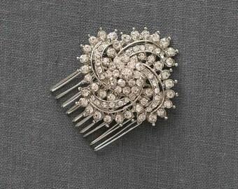 Crystal Bridal Hair Comb | Wedding Haircomb | Bridal Hair Accessories [Aster Comb]