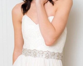 Rhinestone Bridal Sash | Wedding Dress Sash | Crystal Bridal Sash | Wedding Sash [Asteria Belt]