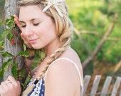 Beach Wedding Starfish Bridal Headband, Wedding Hair Accessory, Sea Shell Wedding Headband, Destination Wedding Headpiece