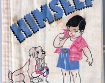 """All By Himself - Kay Clark 1950s Cloth """"How To"""" Dress Little Boy/Plakie-Illustrations Allen Shaw - Good"""