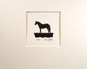 Connemara Pony Hand-Cut Papercut