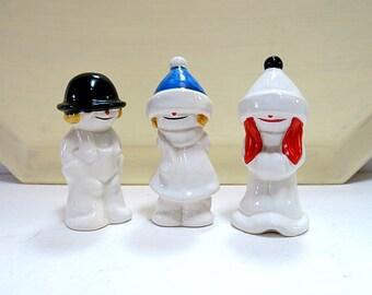 Vintage Goebel Whoosit Kids Figures West Germany Snow Kids Porcelain Figurines