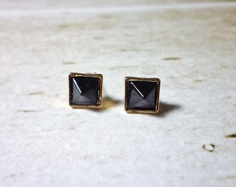 SALE - Mini Square Stud Earrings, Dainty Earrings