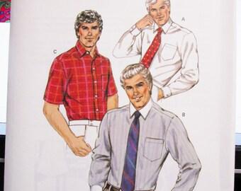 1417 Kwik Sew Pattern Men's Fitted Shirt  Size 42 thru 48