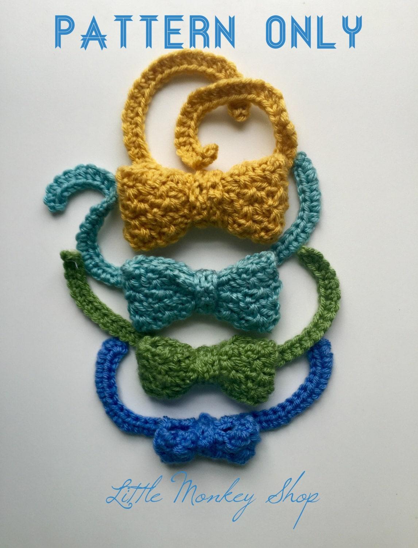 Crochet PATTERN: Textured Bow Tie Crochet by LittleMonkeyShop