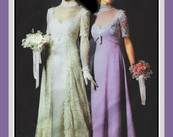 TITANIC ERA GOWNS-Sewing Pattern-Two Styles-Matching Hats-Princess Seams-Empire Waist-Lace Overlay-Deep V Neckline-Uncut-Size 14-20-Rare