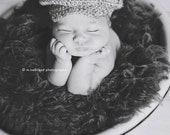 The Donegal, Baby Sizes -, Irish Cap, Crochet Hat Photo Prop