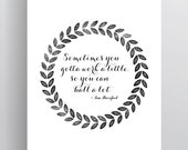 Work A Little, Ball A Lot - Tom Haverford - Parks and Rec Print