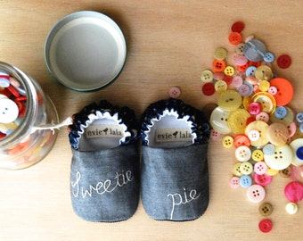 Sweetie Pie Reversible Baby Shoes