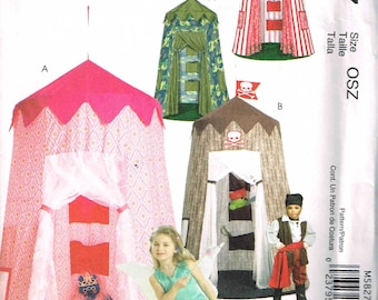 Canopy Tent Playroom House Children McCalls 5827 Sewing Pattern Kids Playhouse Castle