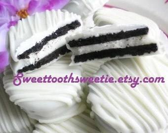 White Wedding Chocolate Covered Oreos Cookies Baby Shower Party Favors Edible Gifts Winter Wonderland Theme Sweet 16 Party House Warming