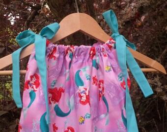 Ariel Mermaid Pillowcase Dress Custom Made For Babies and Girls