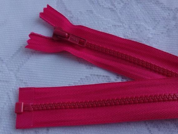 30 hot pink ykk molded plastic separating zipper by. Black Bedroom Furniture Sets. Home Design Ideas