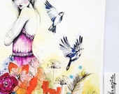 Whisper  // Limited Edition giclée print from an original watercolour by Holly Sharpe