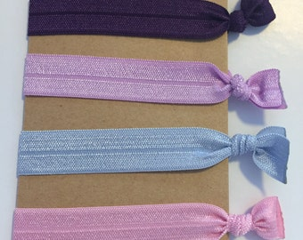 Emi Jay Inspired Hair Ties: Powder Pink, Ice Blue, Palest Violet, and Purple