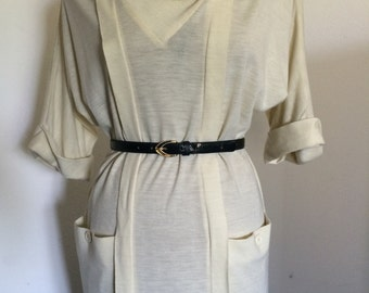 Vintage Mod Drape Collar Dress