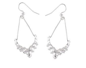 Metropolis Earrings- Long Geometric Sterling Silver Earrings