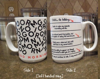 Funny Mug with Level Lines for Coffee Caffeine Addict - LARGE 15 oz., Left or Right Handed - I Need Coffee, Tea Gift friend, co-worker, boss