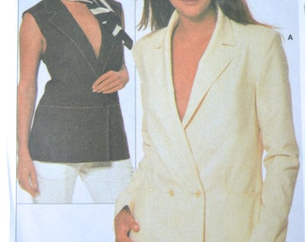 Misses Jacket & Vest - Burda 8668 Pattern - UNCUT